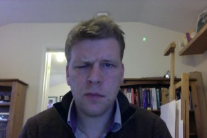 Bells palsy day 76 frown